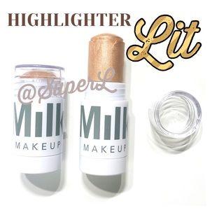 2 Milk Makeup Highlighter Bronzer Lit Foundation